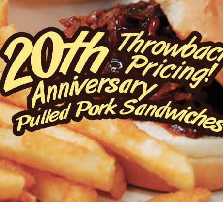 Chuck's Pulled Pork Throwback Pricing