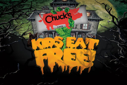 Kids Eat Free on Halloween at Chuck's!