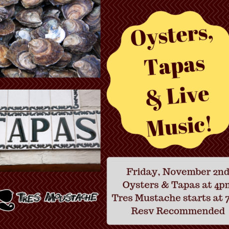 Chuck's Tapas, Oysters & Live Music Night