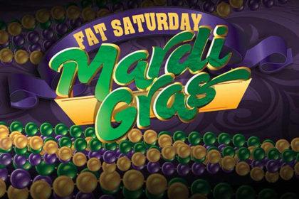 Chuck's 'Fat Saturday' Mardi Gras Buffet