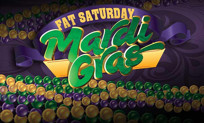 Chuck's 'Fat Saturday' Mardi Gras Buffet