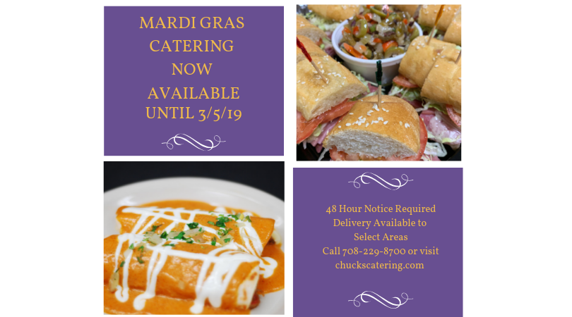 Chuck's Mardi Gras Catering Options
