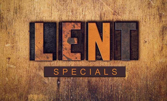 Chuck's Lent Specials
