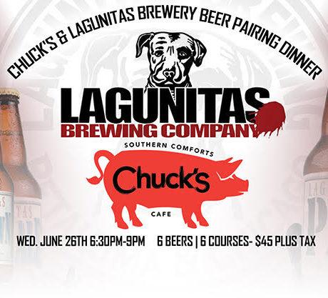 Chuck's & Lagunitas Brewery: Beer Pairing Dinner
