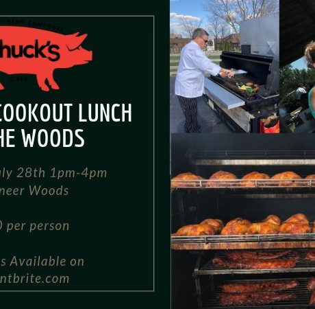 Chuck's Cookout Lunch in the Woods
