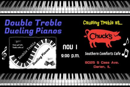 Double Treble Dueling Pianos at Chuck's Southern Comforts Cafe