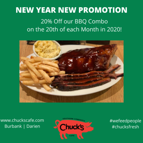 BBQ Combo Discount Day: 20th of the Month in 2020!