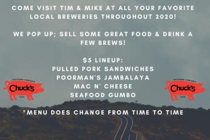 Chuck's BBQ Pop Up Tour 2020