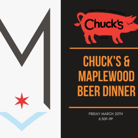 Chuck's & Maplewood Brewing Beer Dinner