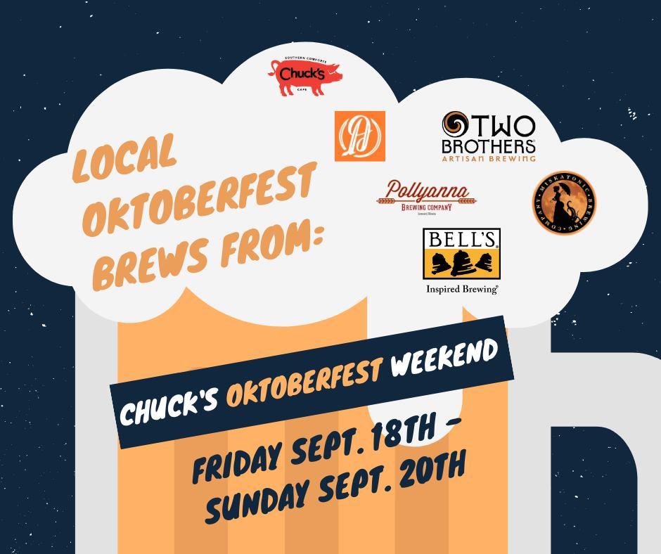 Chuck's Oktoberfest Tap & Snacks Takeover Weekend