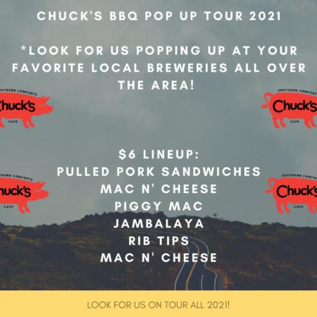 Chuck's BBQ Pop Up Tour: 2021