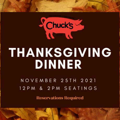 Chuck's Thanksgiving Family Style Dinner
